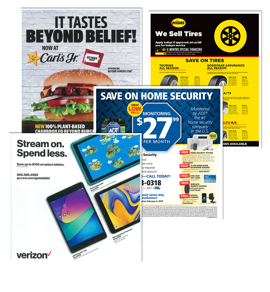PrePrinted Ads Examples